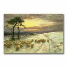 """Sheep in the Snow"" Canvas Art"