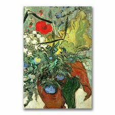 """Bouquet of Wild Flowers"" by Vincent Van Gogh Painting Print on Canvas"