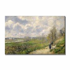 """La Sente Du Chou"" by Camille Pissaro Painting Print on Canvas"