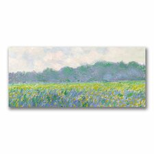 """Field of Yellow Irises at Giverny"" by Claude Monet Painting Print on Canvas"