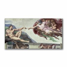 """Sistine Chapel Ceiling"" by Michelangelo Painting Print on Canvas"