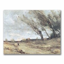 "<strong>Trademark Fine Art</strong> ""The Gust of Wind"" Canvas Art"
