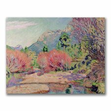 "<strong>Trademark Fine Art</strong> ""The Banks of the Sedelle"" Canvas Art"