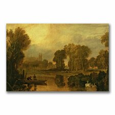 """Eton College from the River"" Canvas Art"