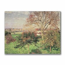 """""""Autumn Morning at Eragny"""" by Camille Pissarro Painting Print on Canvas"""
