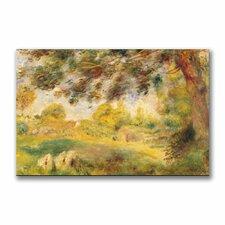 """Spring Landscape"" by Pierre Auguste Renoir Painting Print on Canvas"
