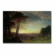 """""""The Sacramento River"""" by Albert Bierstadt Painting Print on Canvas"""