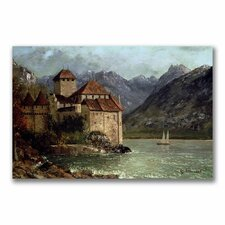 """""""The Chateau De Chillon"""" by Gustave Courbet Painting Print on Canvas"""