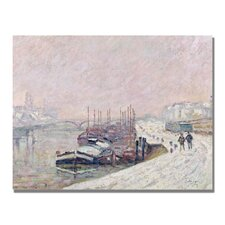 "<strong>Trademark Fine Art</strong> ""Snow in Rouen"" Canvas"""