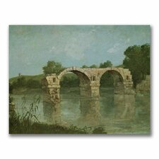 "<strong>Trademark Fine Art</strong> ""The Bridge at Ambrussum"" Canvas Art"