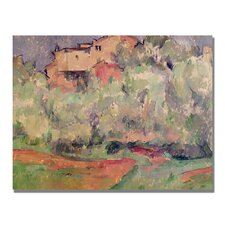 """The House at Bellevue"" by Paul Cezanne Painting Print on Canvas"