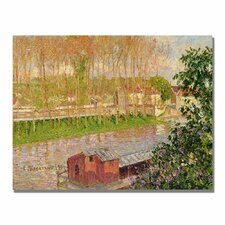 """""""Sunset at Moret Sur Loing"""" by Camille Pissarro Painting Print on Canvas"""