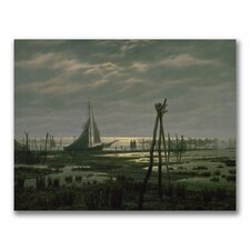 "<strong>Trademark Fine Art</strong> ""Marshy Beach"" Canvas Art"