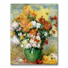 """""""Bouquet of Chrysanthemums"""" by Pierre Auguste Renoir Painting Print on Canvas"""