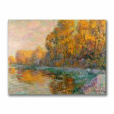"""A River in Autumn"" Canvas Art"