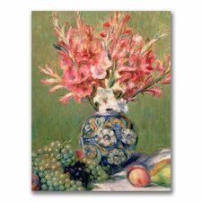 """""""Still life of Fruit and Flowers"""" by Pierre Auguste Renoir Painting Print on Canvas"""