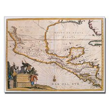 "<strong>Trademark Fine Art</strong> ""Map of New Spain, 1625"" Canvas Art"