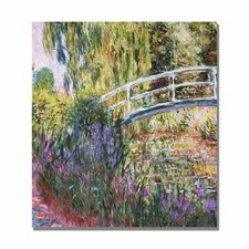 """The Japanese Bridge IV"" by Claude Monet Painting Print on Canvas"