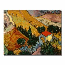 """Landscape with House"" by Vincent Van Gogh Painting Print on Canvas"