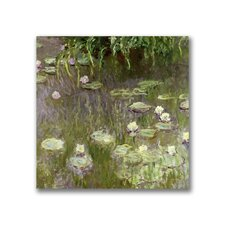 "<strong>Trademark Fine Art</strong> ""Waterlilies at Midday"" Canvas Art"