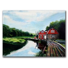 "<strong>Trademark Fine Art</strong> ""The Boathouse"" Canvas Art"