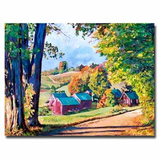<strong>Trademark Fine Art</strong> 'Road to Jenne Farm Vermont' Canvas Art