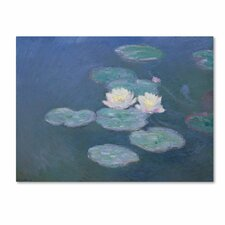 "<strong>Trademark Fine Art</strong> ""Waterlilies Evening"" Canvas Art"