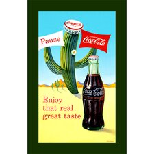 "Coca-Cola ""Pause Cactus"" Canvas Art"