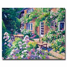 "<strong>Trademark Fine Art</strong> ""English Courtyard"" Canvas Art"