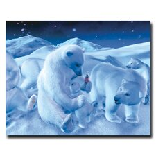 "Coca-Cola ""Polar Bear Sitting with Cub and Bottle"" Canvas Art"
