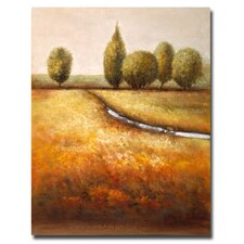 <strong>Trademark Fine Art</strong> 'In The Country Triptych' Canvas Art