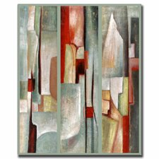 <strong>Trademark Fine Art</strong> 'Abstract Triptych' Canvas Art
