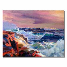 <strong>Trademark Fine Art</strong> 'Surf Crashes' Canvas Art