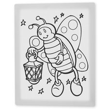 "<strong>Trademark Fine Art</strong> ""Betty the Butterfly"" Coloring Canvas Art"
