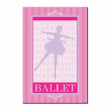 <strong>Trademark Fine Art</strong> 'Ballet in Pink I' Canvas Art