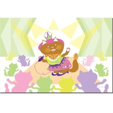 <strong>Trademark Fine Art</strong> 'Pretty Kitty Princess Pop Star' Canvas Art