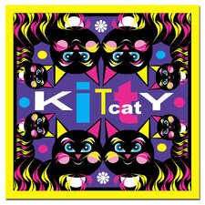 <strong>Trademark Fine Art</strong> 'Kitty Cat' Canvas Art