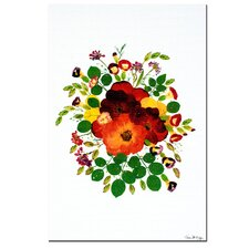 <strong>Trademark Fine Art</strong> 'Wild Roses' Canvas Art