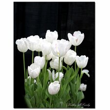 <strong>Trademark Fine Art</strong> 'White Tulips' Canvas Art