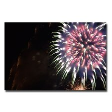 <strong>Trademark Fine Art</strong> 'Abstract Fireworks V' Canvas Art