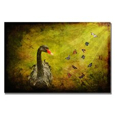 <strong>Trademark Fine Art</strong> 'Goose and Butterflies' Canvas Art