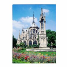 <strong>Trademark Fine Art</strong> 'Notre Dame in Spring' Canvas Art