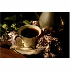 <strong>Trademark Fine Art</strong> 'Coffee and Lilacs' Canvas Art