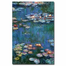 'Waterlilies Classic' by Claude Monet Painting Print on Canvas
