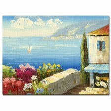 <strong>Trademark Fine Art</strong> 'Mideterreanean Cottage' Canvas Art