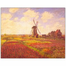 <strong>Trademark Fine Art</strong> Claude Monet 'Tulips in a field' Canvas Art