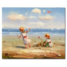 <strong>Trademark Fine Art</strong> 'At the Beach I' Canvas Art