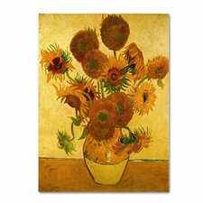 """""""Vase with Sunflowers"""" by Vincent van Gogh Painting Print on Canvas"""