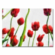 <strong>Trademark Fine Art</strong> 'Red Tulips from Bottom Up III' Canvas Art