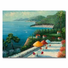 <strong>Trademark Fine Art</strong> 'Cafe on Lake Como' Canvas Art